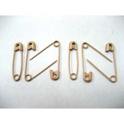 Beige Stainless Steel Safety Pin